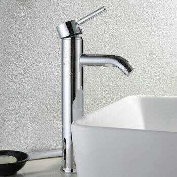 Mitigeur Niza haut en laiton chromé pour vasque à poser