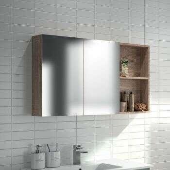 Armoire de toilette 98 cm avec étagère - Beop