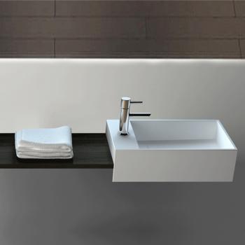 Lave-mains suspendu 35 cm en Solid surface - Manita G
