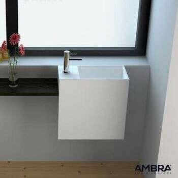 Lave-mains suspendu en solid surface - Palma G
