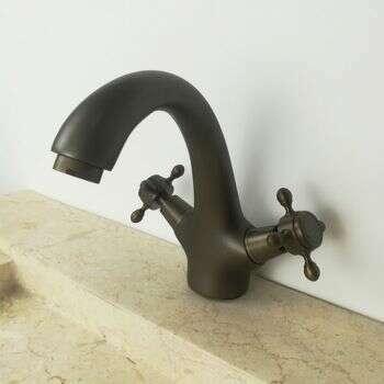 Robinet , mélangeur de lavabo en laiton finition antique