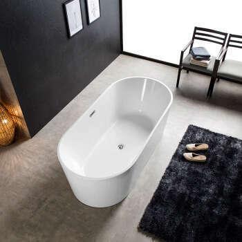 Baignoire ilot ovale en acrylique 160 cm - Tamara