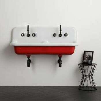 Lavabo école en céramique 120 cm - Rouge