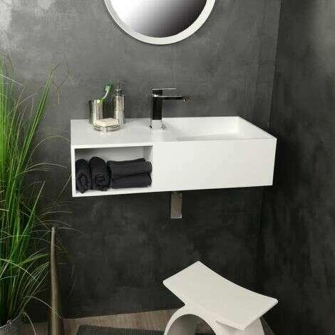 Vasque suspendue 80 cm en solid surface - Ibiza G