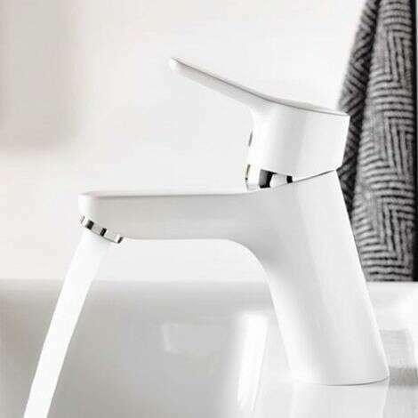 Mitigeur Pure & Easy 70 finition Blanc et Chromé