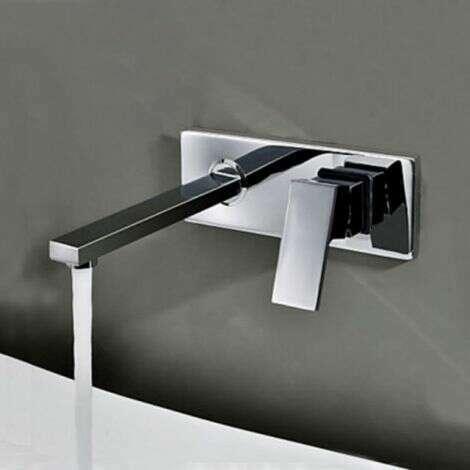 Mitigeur lavabo encastré mural , design en laiton - Aqua
