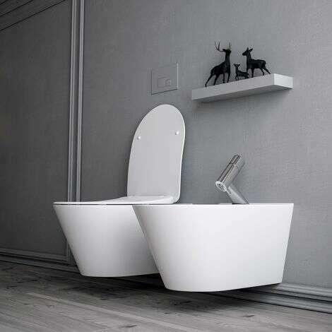 WC suspendu en céramique de 53 cm Avva