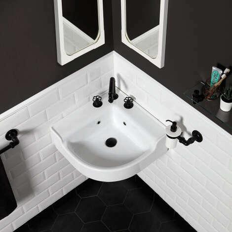 Beau lavabo d'angle rétro