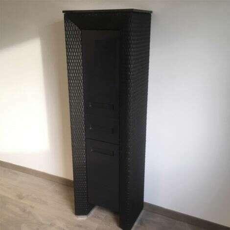 Colonne Charleston Noir Cendre - 170 cm