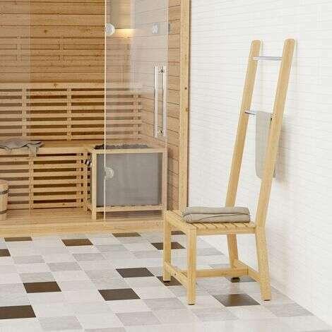 Chaise Nila avec porte-serviettes en chêne naturel