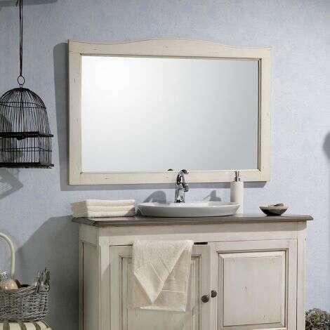 Miroir 140 cm en Acacia blanc veilli - Garriguo