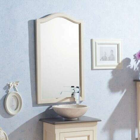 Miroir 50 cm en Acajou blanc veilli - Garriguo