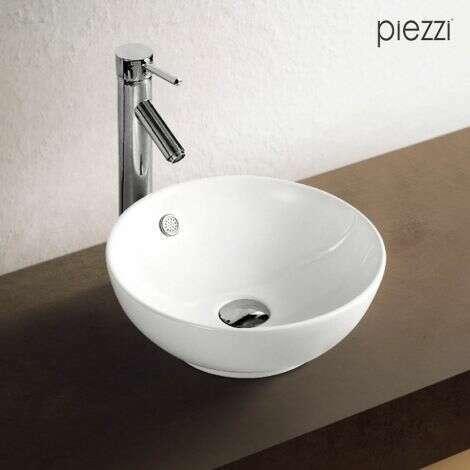 Vasque à poser en céramique blanche 38 cm - Rondo