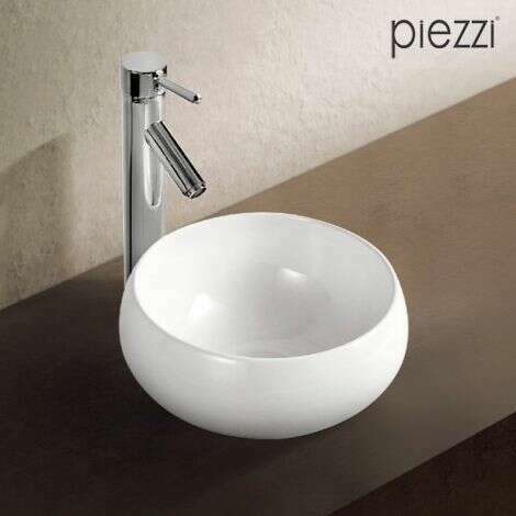 Vasque ronde en céramique blanche 32 cm - Boréal