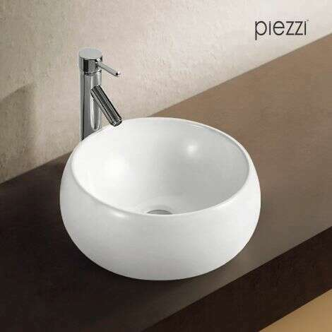 Vasque ronde en céramique blanche - Mood de chez Piezzi