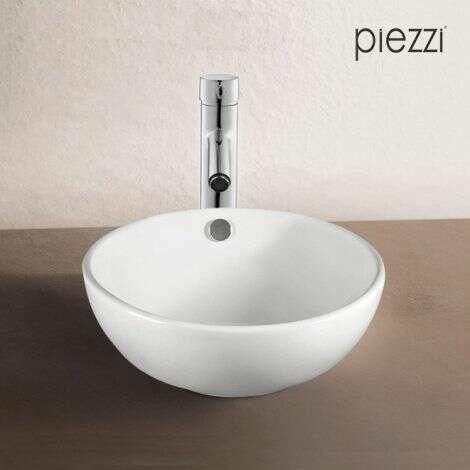 Vasque à poser en céramique blanche,ronde 43 cm
