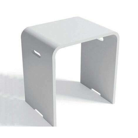 Tabouret blanc Kento en Solid surface