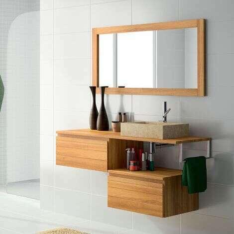 Grand miroir 120 cm aspect tech