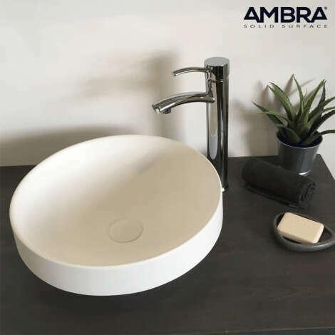 Vasque semi-encastrée 40 cm en Solid surface - Lucia