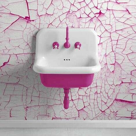 Lavabo en céramique émaillée 60 cm - True Colors - Fushia