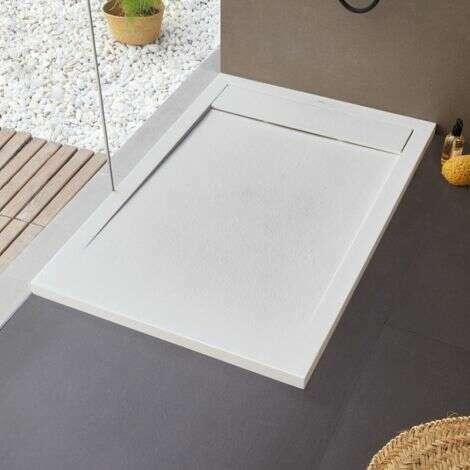 Receveur de douche extra-plat NEW YORK en résine et fibre de verre - Blanc