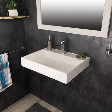 Vasque rectangulaire 60 cm en Solid surface - Novéa