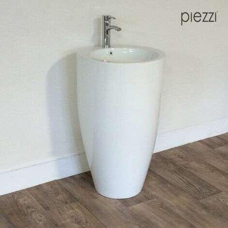 Vasque sur pied en céramique Oréa blanche
