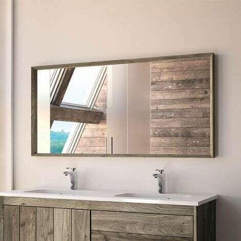Miroir 120 cm en chêne grisé - Refugia