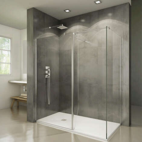 Paroi de douche à volet pivotant en verre transparent 8 mm - Screen