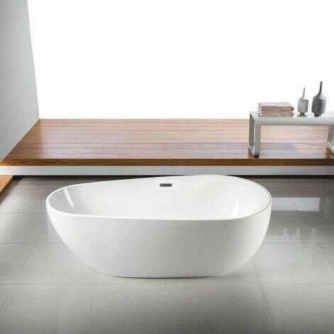 Baignoire ilot ovale en acrylique 150 cm - Serena