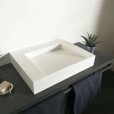 Vasque rectangulaire à poser en céramique 60 cm - Soko II