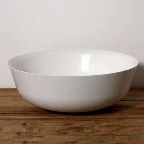 Vasque à poser ronde 41.5 cm en Pierre de synthèse aspect porcelaine fine - Solora
