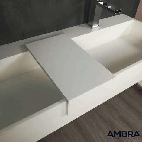 Tablette à poser pour vasque en solid surface