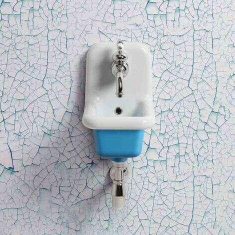 Lavabo école céramique 26 cm - Bleu
