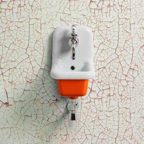Lavabo école céramique 26 cm - Orange
