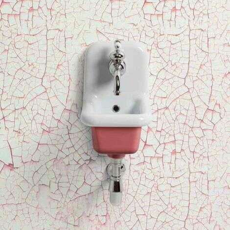 Lavabo école céramique 26 cm - Rose Foncé