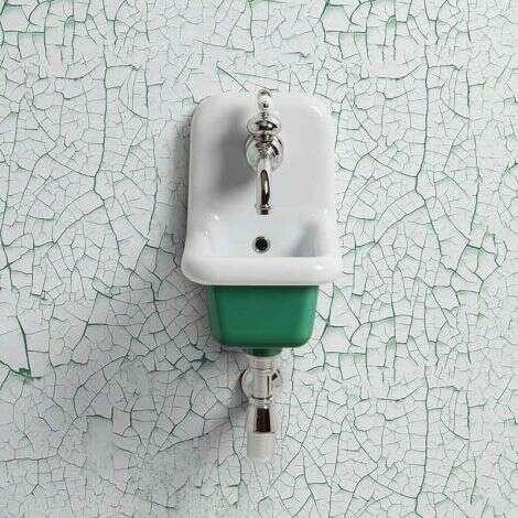 Lavabo école céramique 26 cm - Vert Foncé