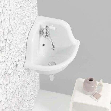 Lavabo en céramique émaillée 42 cm - Blanc