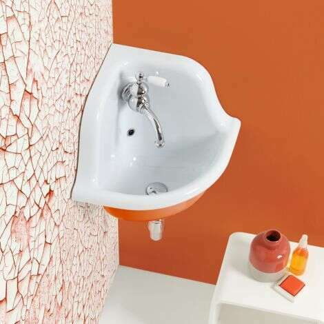 Lavabo en céramique émaillée 42 cm - Orange