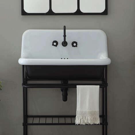 Vasque rétro style école 90 cm - True Colors noir
