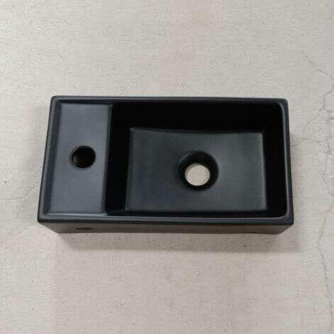 Lave-mains en céramique noire