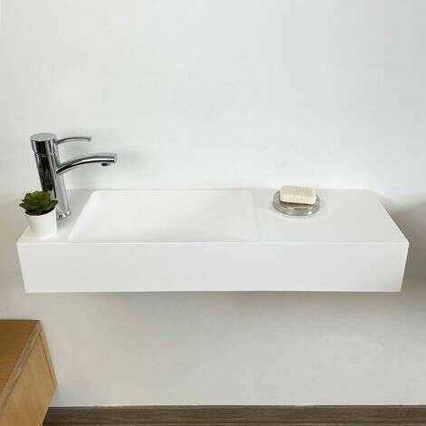 lave-mains en pierre de synthèse 80 cm