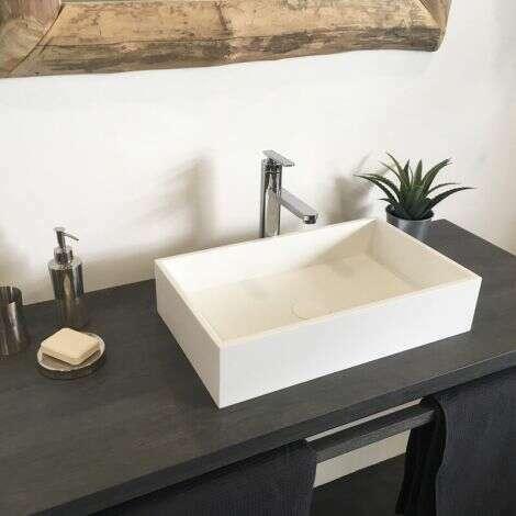 Vasque rectangulaire 50 cm en Solid surface - Soho