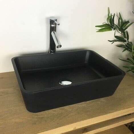 Vasque noir 50 cm