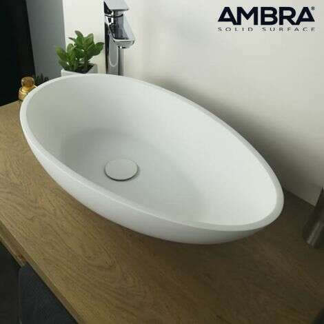 Vasque à poser design en Solid surface 60 cm - Volaé