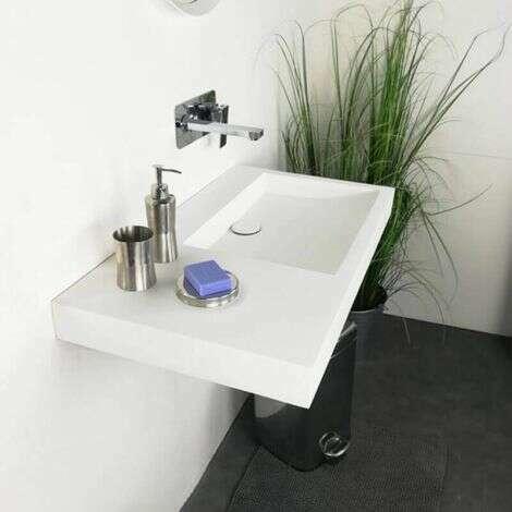 Vasque suspendue Passoa II D en solid surface