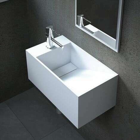 Lave-mains suspendu Rhéa G en Solid Surface