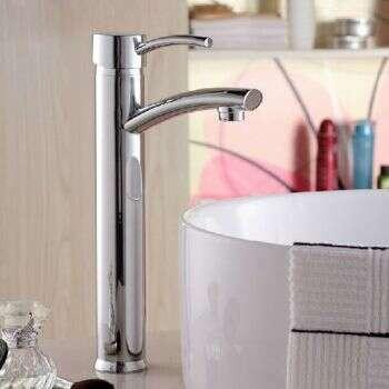 Mitigeur haut Kobé, en laiton chromé pour vasque à poser