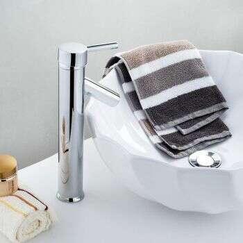 Mitigeur haut Tréo, en laiton chromé pour vasque à poser