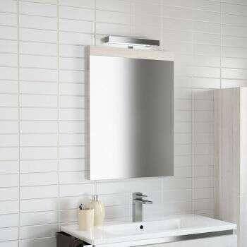 Miroir bandeau 80 cm chêne clair - Beop